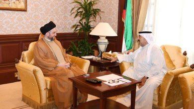Photo of النائب الأول يبحث مع رئيس تحالف الإصلاح العراقي عمار الحكيم موضوعات مشتركة