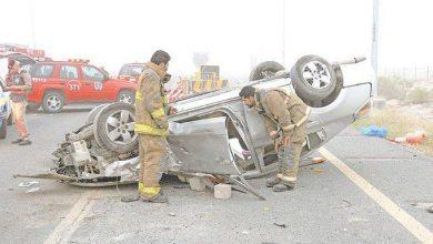 Photo of مصرع شخص وإصابة آخرين إثر انقلاب مركبتهم على طريق الفحيحيل