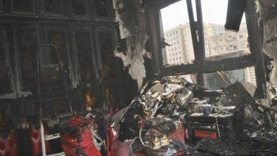 Photo of اخماد حريق شقة في عمارة بمنطقة الفراونية