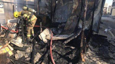 Photo of إخماد حريق بمبنى قيد الإنشاء في صباح السالم
