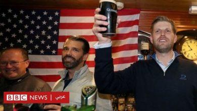 """Photo of ابنا ترامب يطوفان في حانات """"جزيرة الزمرد"""" ويصبان البيرة للزبائن بنفسيهما"""