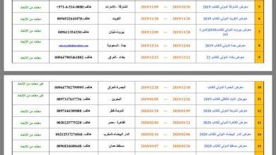 Photo of قائمة معارض الكتاب العربية القادمة  2019 _2020
