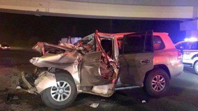 Photo of الإطفاء إصابة أشخاص بإصابات بليغة في حادث تصادم على طريق الملك..