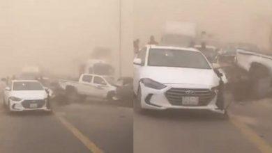 Photo of السعودية تصادم مروع لعدد من المركبات في جازان إثر عاصفة ترابية