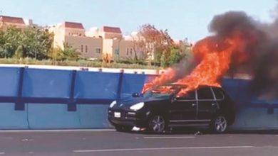 Photo of بالفيديو حريق مركبة ظهرا في   جريدة الأنباء