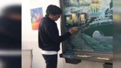 Photo of بالفيديو معلم صيني يرسم لوحة كاملة | جريدة الأنباء