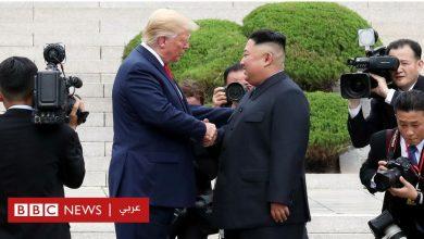 Photo of دونالد ترامب يلتقي بكيم جونغ أون لأول مرة في المنطقة المنزوعة السلاح بين الكوريتين