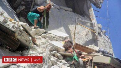 Photo of فتاة صغيرة تنقذ اختها من الموت بعد قصف على بلدة أريحا السورية