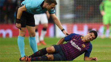 Photo of الإصابة تغيب سواريز عن الملاعب ثلاثة أسابيع