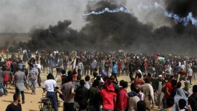 Photo of إصابة فلسطينيا خلال مشاركتهم بمسيرة العودة