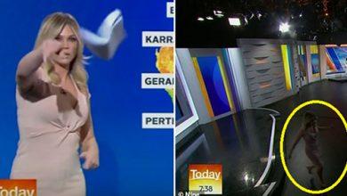 Photo of بالفيديو على الهواء مذيعة تلقي | جريدة الأنباء