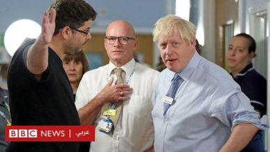 Photo of أب غاضب يوبخ رئيس الوزراء البريطاني بوريس جونسون بسبب الرعاية الصحية