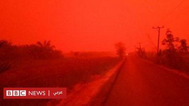 Photo of حرائق الغابات في إندونيسيا تحيل لون السماء إلى الأحمر القاني