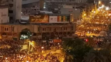 Photo of المتظاهرون العراقيون يكسرون حظر التجول في بغداد