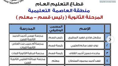 Photo of الأنباء تنشر أسماء 331 معلما و50 | جريدة الأنباء