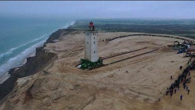 Photo of بالفيديو عملية نقل منارة عملاقة   جريدة الأنباء