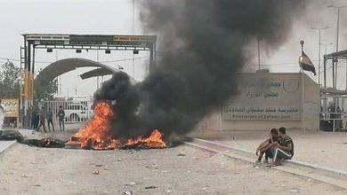 Photo of عراقيون يغلقون منفذ سفوان