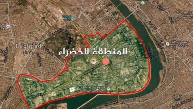 Photo of العراق سقوط صاروخ قرب المنطقة الخضراء ببغداد