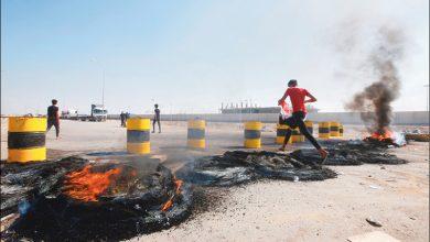 Photo of الاحتجاجات تشتعل في البصرة