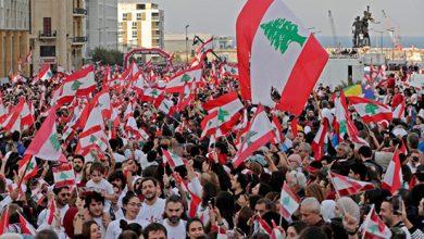 Photo of المتظاهرون في لبنان يحيون ذكرى مرور 76 عاما على الاستقلال
