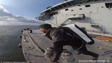 Photo of بالفيديو ضابط يطير في عرض البحر أول   جريدة الأنباء