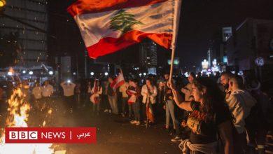 Photo of مظاهرات لبنان: إغلاق طرق رئيسية في بيروت مع استمرار الاحتجاجات
