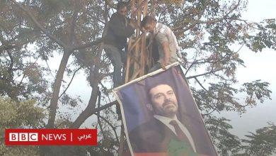 Photo of احتجاجات لبنان: إزالة صور الزعماء السياسيين في طرابلس