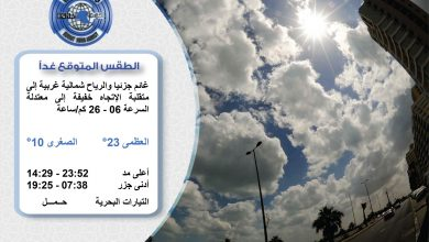 Photo of الطقس المتوقع غدا السبت