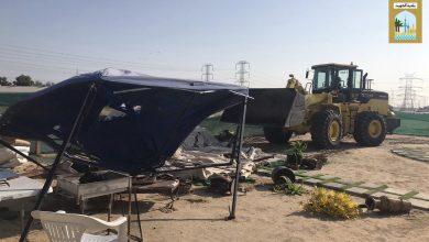 Photo of البلدية إزالة مخيمات مخالفة وغرف كيربي بالصبية