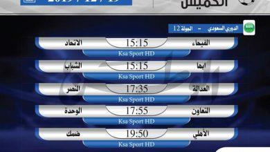 Photo of أبرز المباريات العربية ليوم الخميس 19 ديسمبر 2019