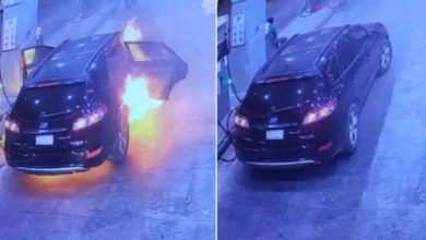 Photo of فيديو يظهر لحظة اشتعال سيارة بها | جريدة الأنباء