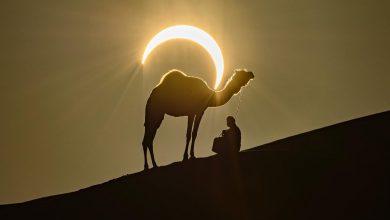 Photo of مشاهد من كسوف الشمس الحلقي في صحراء | جريدة الأنباء