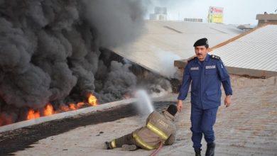 Photo of (الاطفاء): 9 فرق اطفاء سيطرت على حريق هائل اندلع بمنطقة الري