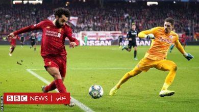 """Photo of محمد صلاح: كيف سدد هدفا """"لا يصدق"""" في مباراة ليفربول وسالزبورغ"""