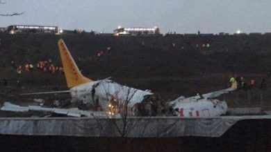 Photo of تحطم طائرة في إسطنبول خرجت عن مسارها عقب هبوطها