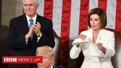Photo of خطاب حالة الاتحاد: لحظة تمزيق رئيسة مجلس النواب الأمريكي خطاب ترامب أمام الكاميرات