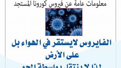 Photo of معلومات عامة عن فيروس كورونا المستجد