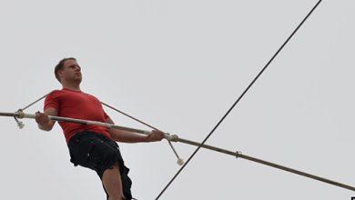 Photo of مغامر أميركي يستعد للسير على الحبل | جريدة الأنباء