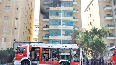 Photo of حريق شقة يخلي عمارة في الفروانية   جريدة الأنباء