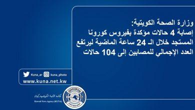 Photo of وزارة الصحة: (104) حالات مؤكدة بفيروس كورونا