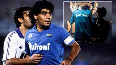 Photo of بيع قميص مارادونا بـ ألف دولار لمساعدة جمعية خيرية في نابولي ا..
