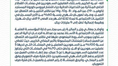 Photo of بأمر خادم الحرمين الشريفين صرف 9 مليار ريال للمواطنين المتأثرين من كورونا
