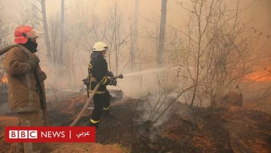 Photo of حرائق غابات متواصلة على بعد كيلو مترات من محطة شيرنوبل النووية