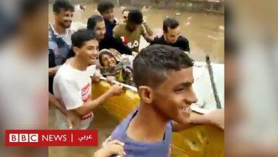 "Photo of السيول في اليمن: مشاهد ""بطولية"" لشباب ينقذون الناس من الانجراف"