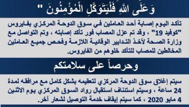 Photo of تعاونية الصليبخات والدوحة إصابة أحد العاملين بفيروس كورونا