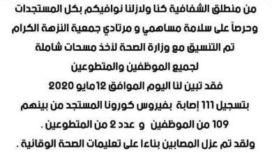 Photo of كورونا يجتاح جمعية النزهة ويُصيب موظف