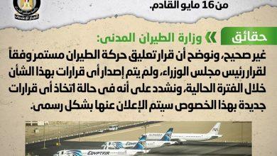 Photo of القاهرة تنفي عودة الطيران بشكل | جريدة الأنباء