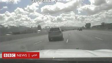 Photo of شرطي أمريكي يلاحق طفلا في الخامسه يقود سيارة على طريق سريع بأمريكا