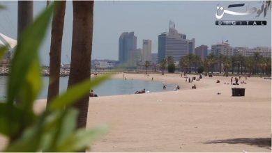 Photo of توافد على الشواطئ خارج ساعات الحظر