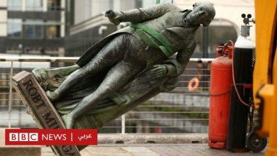 Photo of جورج فلويد : إزالة تمثال لتاجر عبيد من أمام متحف شهير في لندن